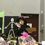 Elizabeth - Mistress of Ceremonies at the local school Halloween Carnival